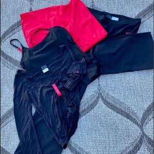 Nike black&red yoga/dance movement outfit